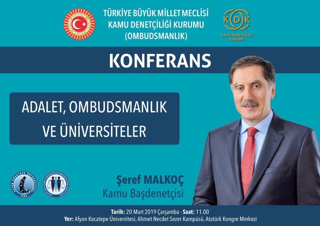 konferans adalet ombudsmanlik ve universiteler hukuk fakultesi